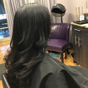 Silk press Natural Hair