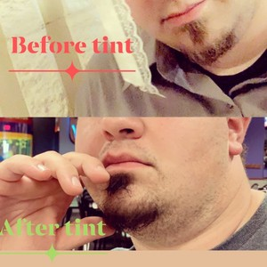 Male beard tinting!