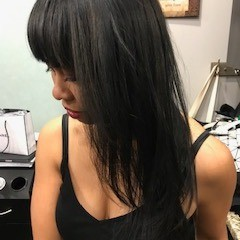 Photo of work by Senait Schlachter - Ouidad Hair Cut Certified