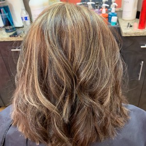 Olaplex hair restoration with full hilite and all over color
