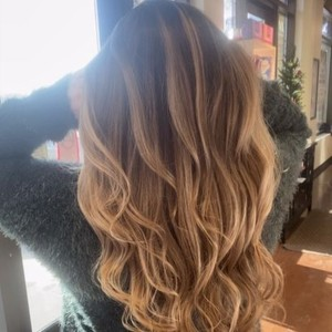 Balayage on Virgin Hair