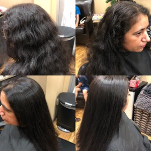 Brazilian Blowout results with just a blow dryer!!