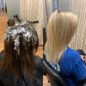 Black box dye to platinum in 5 sessions.